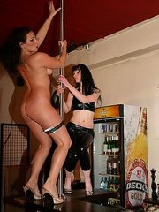 Nude beauties getting punished brutally at the famous whip lounge! Big nasty welts are rising all over her nice ass and back.